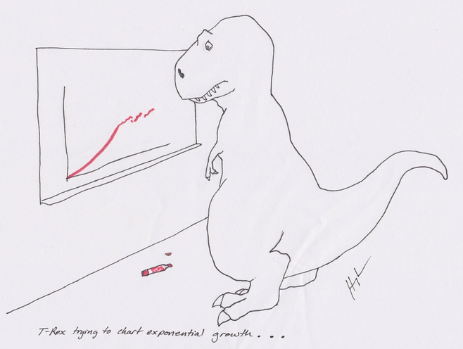 T-Rex tries to chart exponential growth